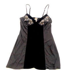 Vintage 🥰 Black slip - Slip Dress